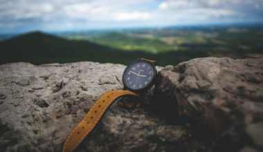 One of the best survival watches resting on a rock