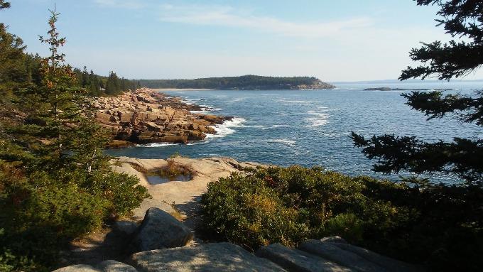 An off-grid beach in Maine