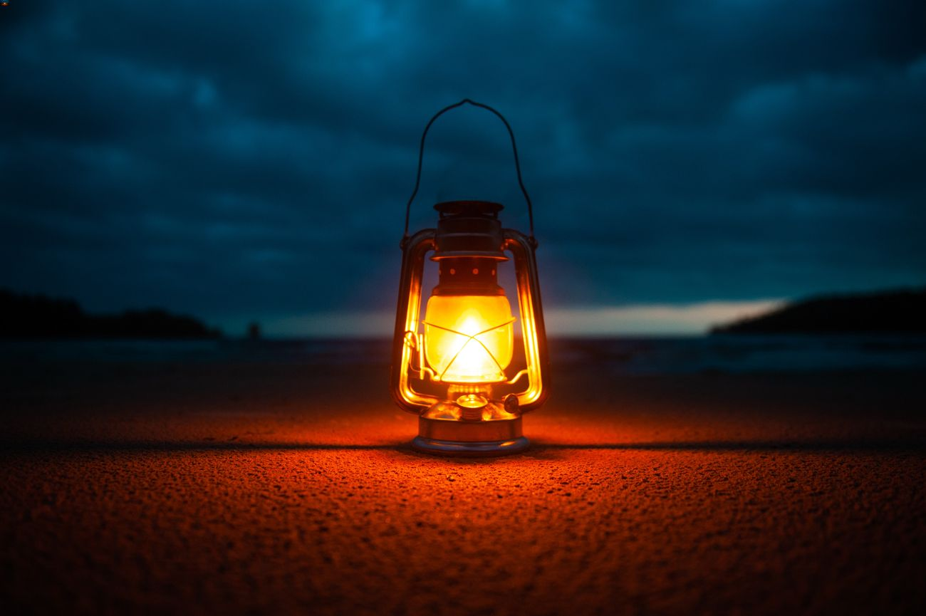 One of the best LED lanterns on the ground at night